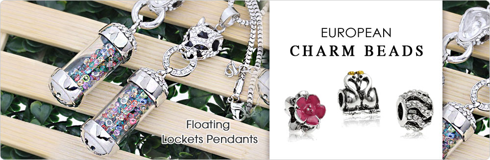 Floating lockets pendant european charm beads